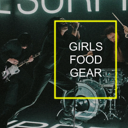 The 1975 - People - GIRLS FOOD GEAR Poster
