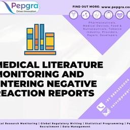 Medical Literature Monitoring and Entering Negative Reaction Reports — Pepgra.com